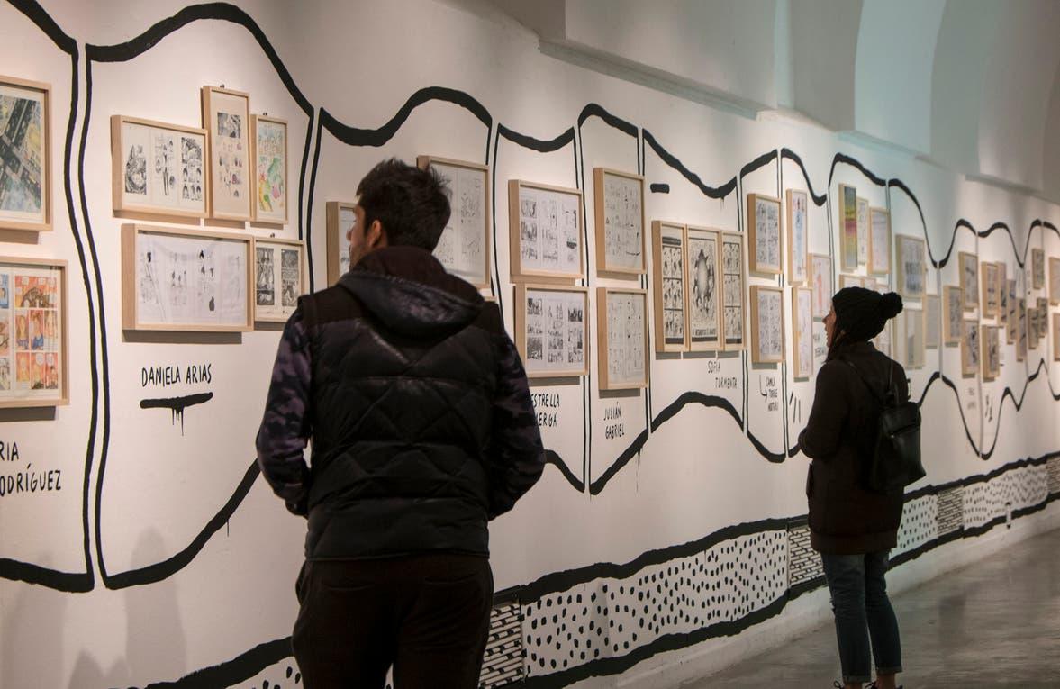 En la Sala 4 del Recoleta, el espacio se halla bajo el dominio creativo del cómic, la ilustración y el relato gráfico foto: LA NACION Leo Vaca/AFV