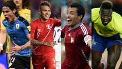 Edinson Cavani (Uruguay), Paolo Guerrero (Perú), Juan Arango (Venezuela) y Felipe Caicedo (Ecuador), los rivales del exigente fixture que le queda por delante a la Argentina