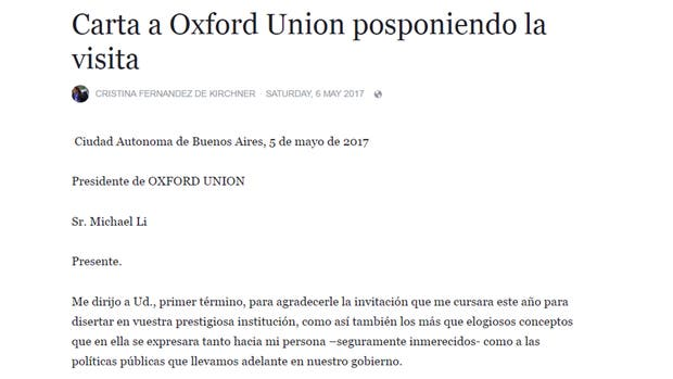 Cristina no va a Oxford
