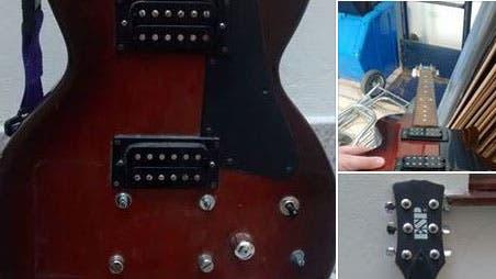 La guitarra, exhibida en Facebook
