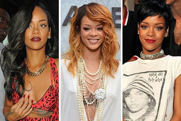 ¡Los mil looks de Rihanna! Si hay alguien que está acostumbrada a los cambios es ella, siempre busca innovar y sorprender. Foto: Celebritieswonder.net