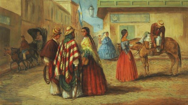 Retrato de un día cualquiera en Esquina porteña, pintura de León Pallière