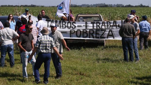 Los tamberos comenzaron a protestar el lunes en Córdoba