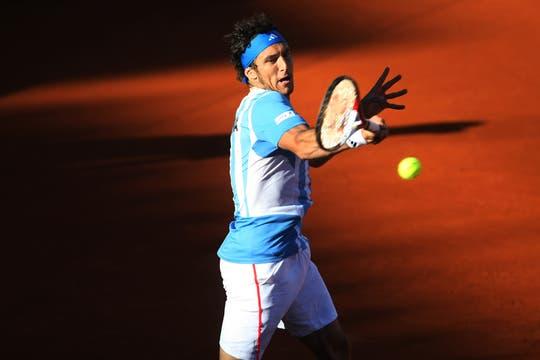 Juan Mónaco igualó la serie para la Argentina. Foto: LA NACION / Mauro Alfieri