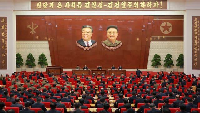 El plenario celebrado ayer en Pyongyang