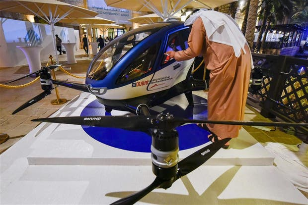 El taxi del futuro: Dubai usará drones para el transporte de pasajeros