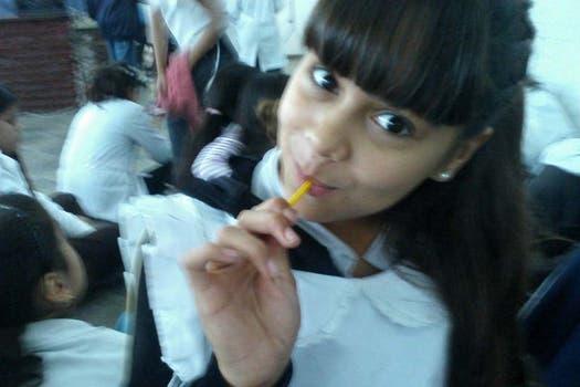 Durante un recreo en la escuela. Foto: Facebook