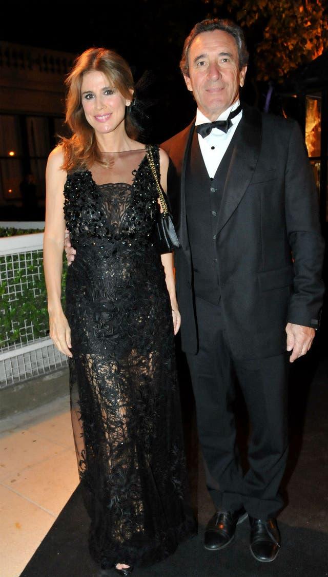 Flavia Palmiero asistió junto a su novio, el productor Luis Alberto Scalella