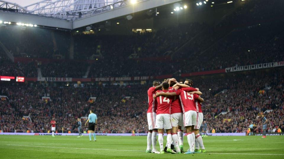 El festejo del United