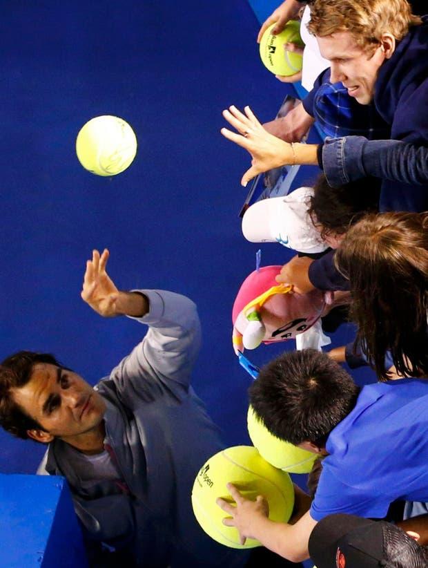 Roger para tresss.  Foto:Reuters