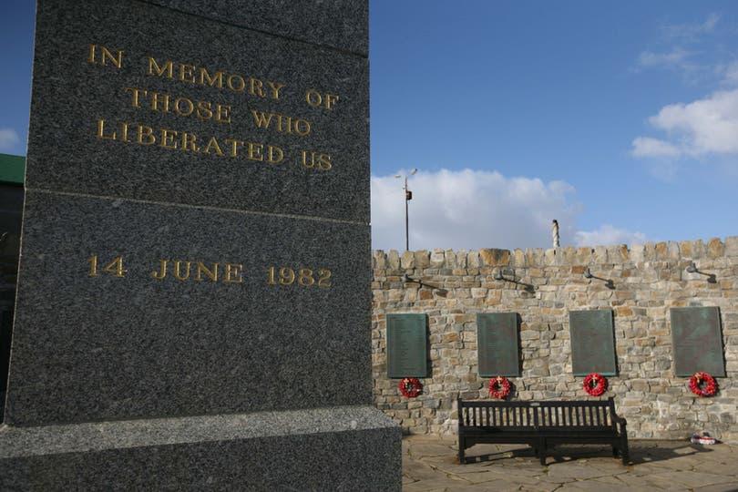 Monumento en memoria de los soldados ingleses. Foto: LA NACION / Mauro V. Rizzi