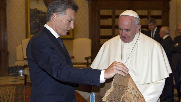 El presidente Mauricio Macri y el papa Francisco, en Roma