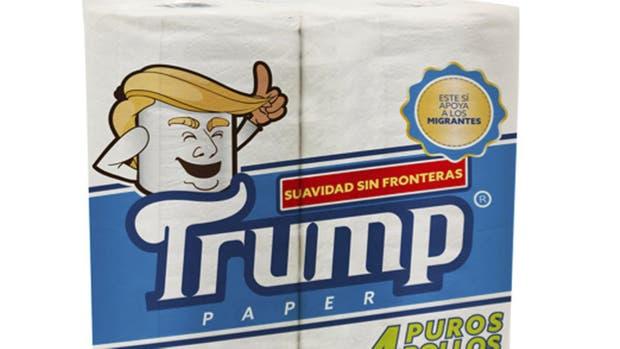 Ilustración de la imagen de la marca de papel higiénico Trump