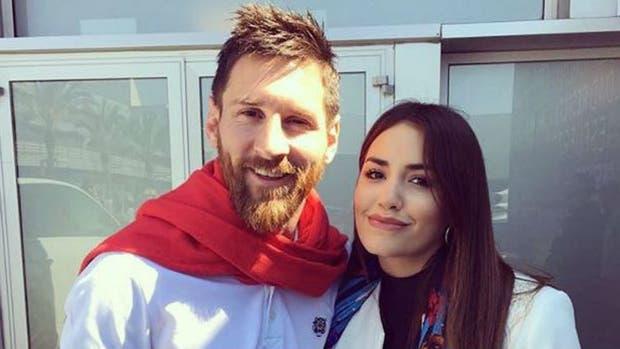 Lali y su foto con Messi