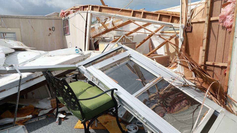 Las ráfagas de viento de Irma, superaron los 160 km. Foto: Reuters