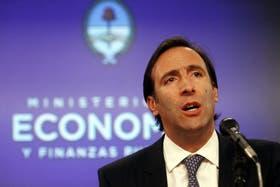 El ministro de Economía, Hernán Lorenzino