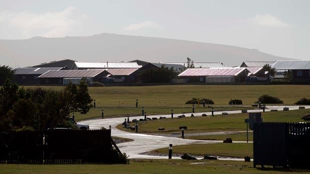 Vista de la base militar inglesa en la isla, Mount Pleasant. Foto: Archivo / Rodrigo Néspolo / LA NACION