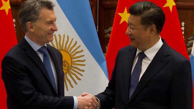 Macri y el presidente de China, Xi Jinping
