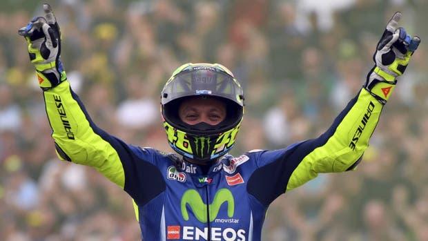 Valentino Rossi volvió a festejar después de un año