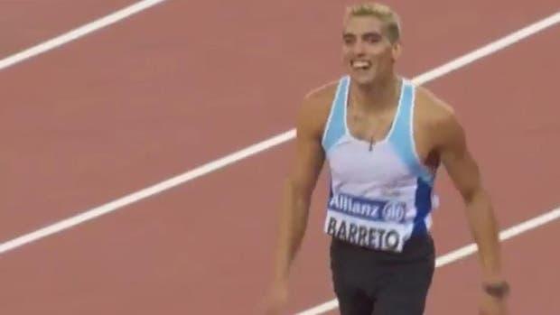 Barreto, medalla de plata en los 200 metros T35