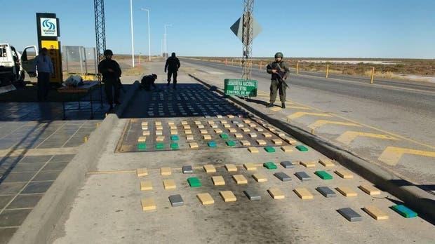 La droga fue incautada en el cruce de las rutas nacionales 60 y 157