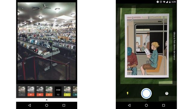 VSCO permite aplicar múltiples filtros a una imagen; PhotoScan, digitalizar una foto impresa
