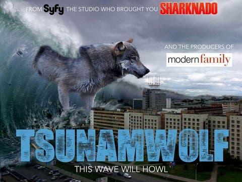 Una película sobre un tornado de tiburones generó reacciones en las redes sociales, como un film sobre un tsunami de lobos. Foto: Gentileza knowyourmeme.com