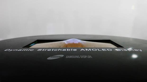 Samsung mostró la primera pantalla elástica del mundo