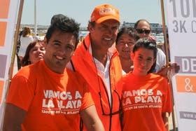 El gobernador bonaerensa, Daniel Scioli, en Mar del Plata