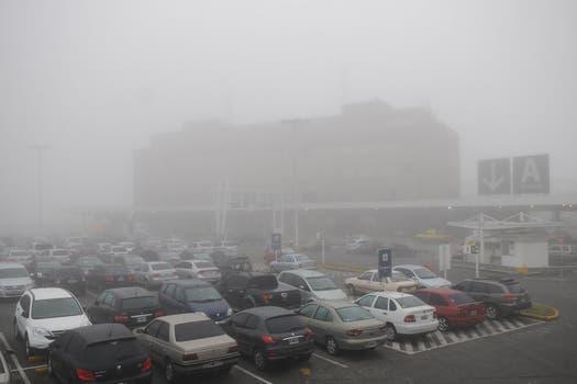 Vista del estacionamiento del aeropuerto de Ezeiza. Foto: DyN