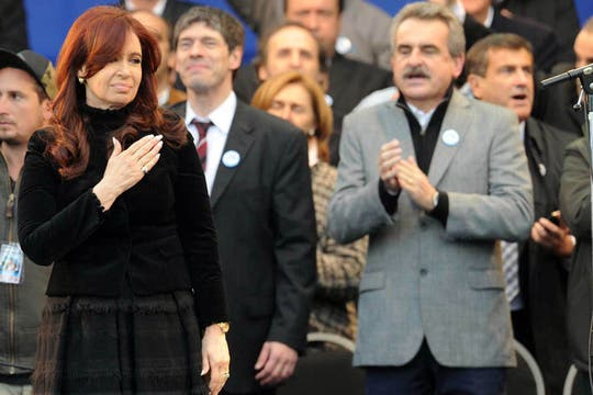 Masivo acto de Cristina Kirchner en homenaje al triunfo de Néstor Kirchner en 2003. Foto: Télam