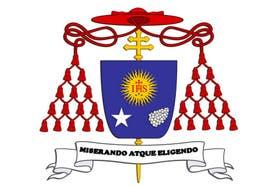 El escudo de Jorge Bergoglio cuando era arzobispo de Buenos Aires