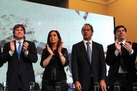 La Presidenta, en Mar del Plata, en noviembre del año pasado, cuando habló de Néstor tuerto