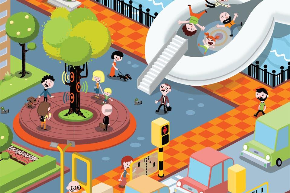 Una nueva premisa circula por las urbes modernas: cómo hacer para que sus habitantes se sientan mejor. Semáforos con juegos, bancos de plaza con música y demás inventos de la arquitectura de las emociones.