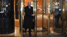 El mediador Pollack al salir de la reunión con los funcionarios argentinos