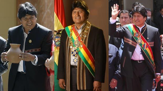 El look de Evo Morales