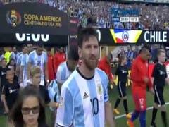 Así ingresaba la selección Argentina al estadio