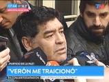 La pelea Verón-Maradona