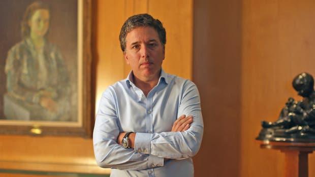 Nicolás Dujovne, en su despacho del Palacio de Hacienda