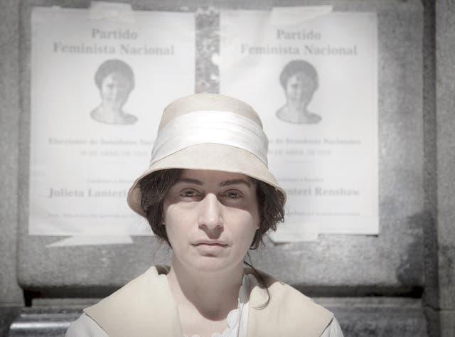 La actriz Muriel Santa Ana trabajó en las interpretaciones de Muzzilli, Lanteri, Medina Unrubia y Storni desde la impronta de energía, respiración e identidad