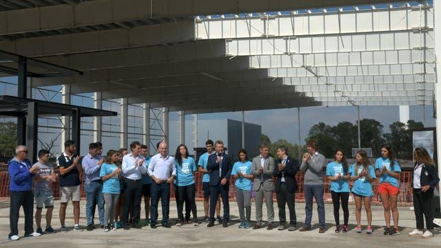 El Presidente recorrió las obras en la Villa Olímpica de Villa Lugano junto con Rodríguez Larreta
