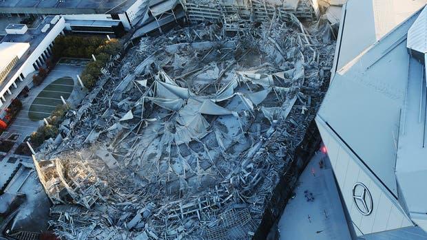 Mira la demolición del Georgia Dome, ex casa de los Atlanta Falcons