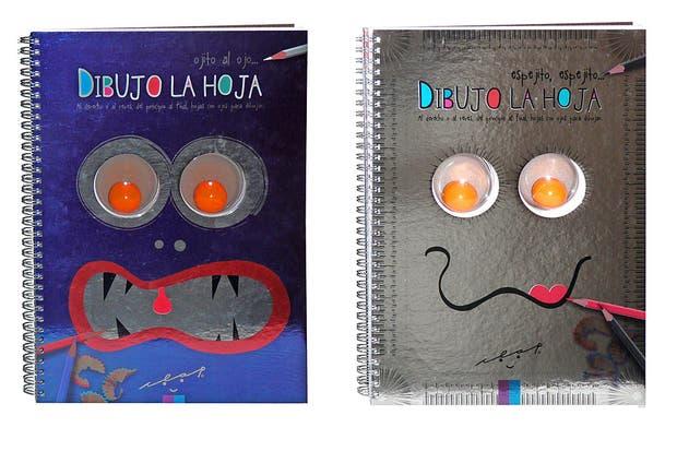 Cuadernos para dibujar (Juguetes Clap, $120) en los que, a partir de dos ojitos (que se ven tanto en la tapa como en la contratapa), disparan la imaginación y la creatividad de cada chico. Todas las hojas están perforadas, para tener siempre a la vista el par de ojitos.