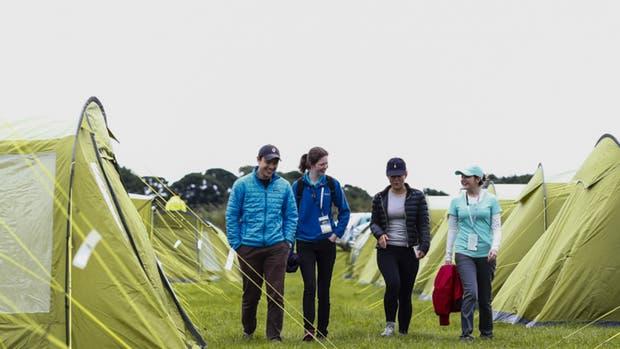 El campamento del Open