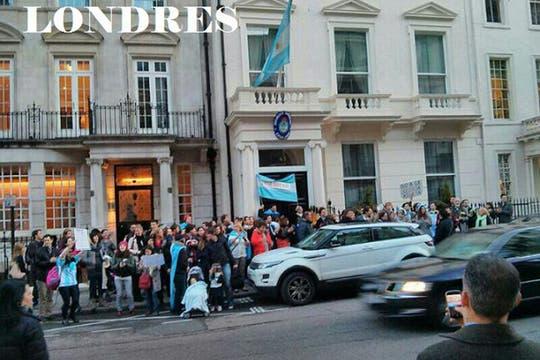 Londres, Inglaterra. Foto: facebook.com/ArgentinaEnElExterior