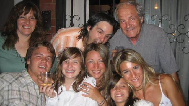 Marina Menegazzo junto a su familia