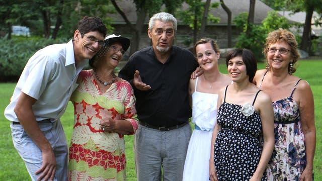 Cecilia y Javier, en familia