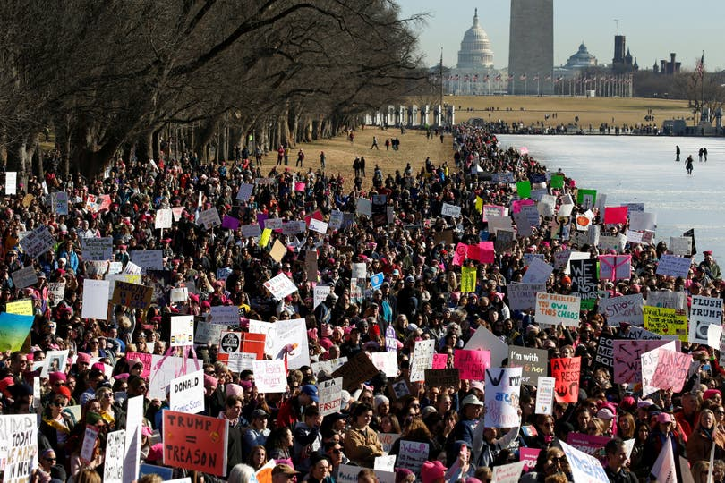 En Washington, miles de personas se movilizaron ayer por la segunda Marcha de las Mujeres