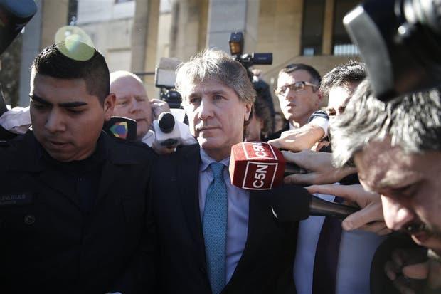 Boudou, en tribunales la semana pasada por el caso del auto con papeles truchos