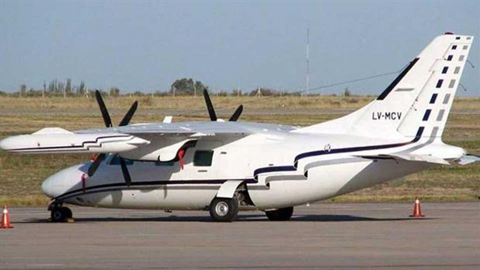 El avión es una turbo hélice bimotor marca Mitsubishi, matrícula LV MCV. Foto: Archivo